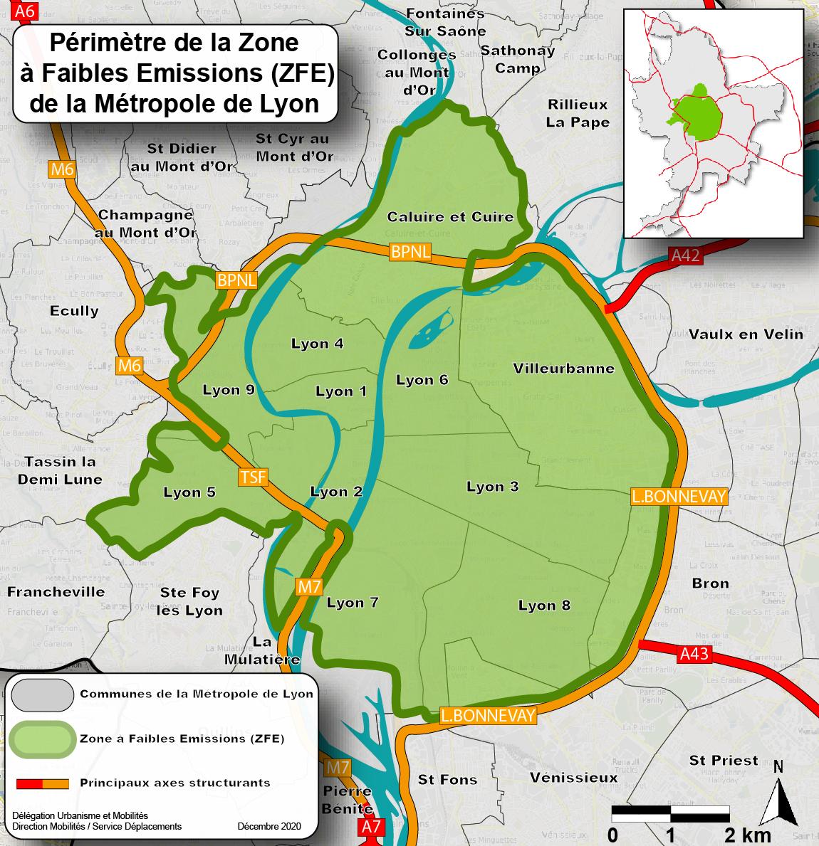 ZFE du Grand Lyon : la métropole lance la concertation... Zfe_perimetre-zoom_2020